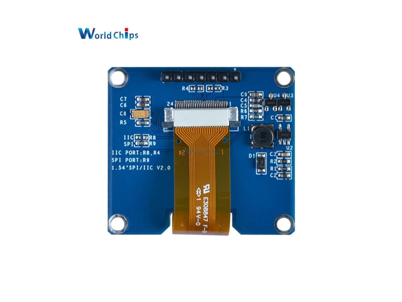 """1.54/""""  inch Display Module Yellow OLED  LCD LED 128x64 SPI Interface 3.3-5V"""