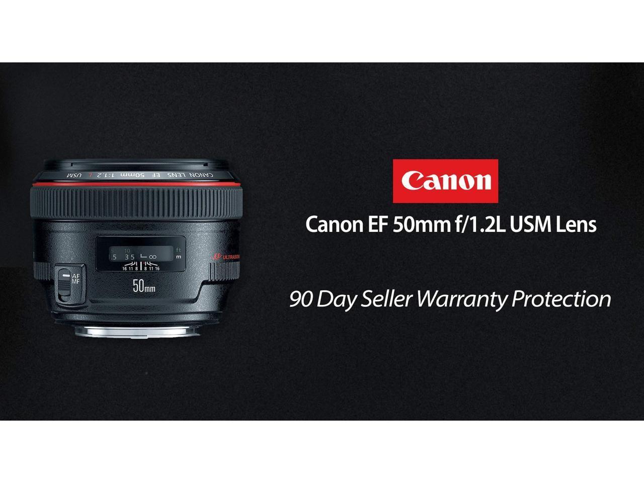 Refurbished Black Canon EF 50 mm f//1.2L USM Lens