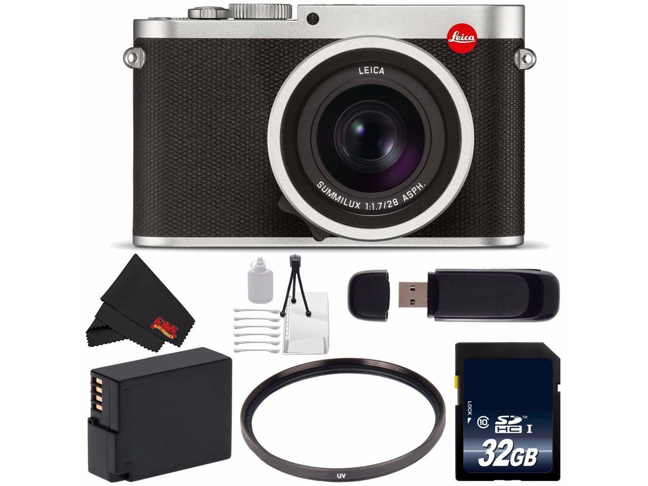 Leica Q Typ 116 Digital Camera Silver Anodized 19022 32gb Sdhc Class 10 Memory Card Dmw Blc12 Lithium Ion Battery 49mm Uv Filter Sd Card Usb Reader Deluxe Starter Kit Bundle Newegg Com