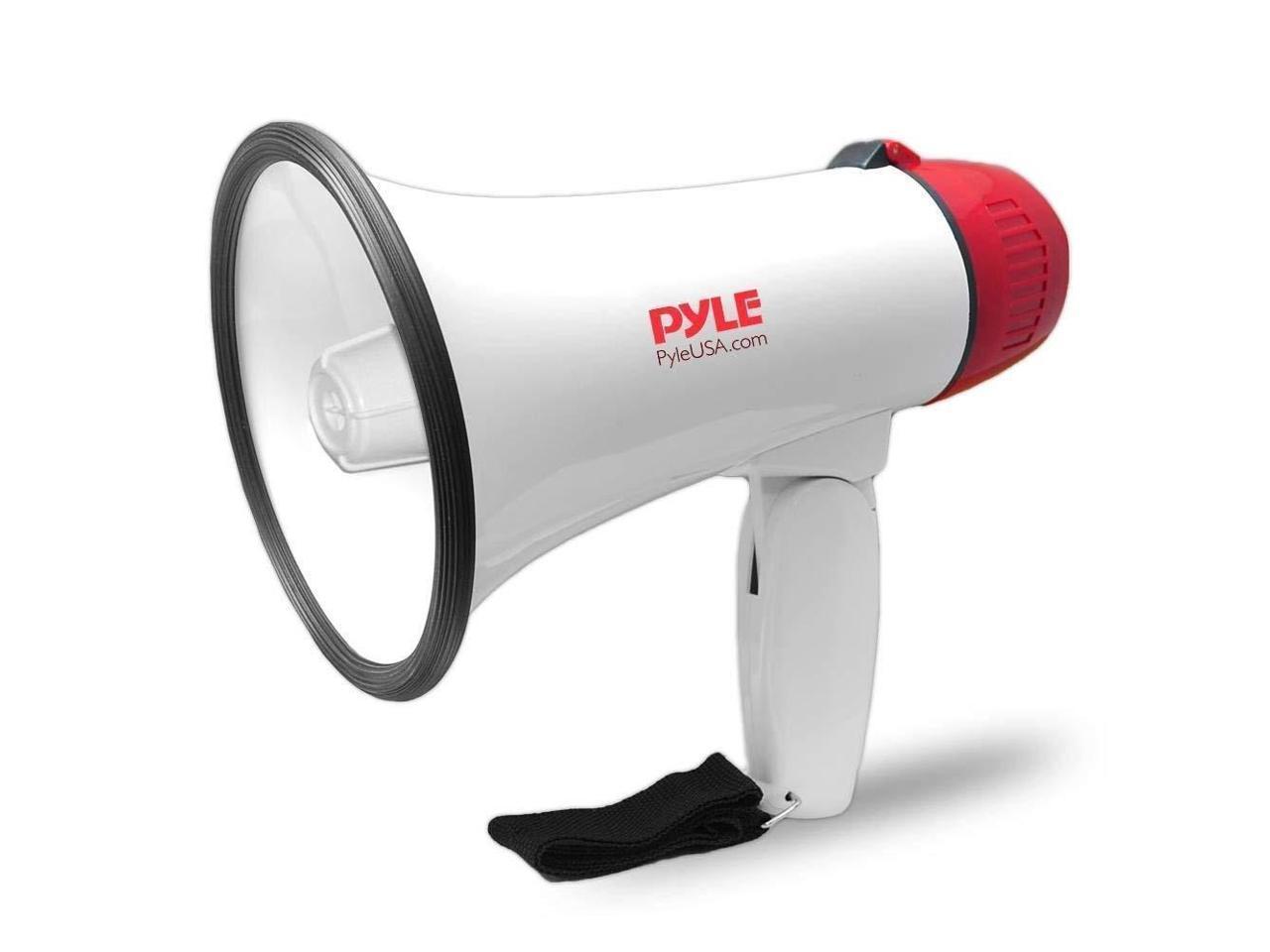 Pyle Megaphone Speaker PA Bullhorn Built-in Siren 40 Watts Adjustable Vol C...