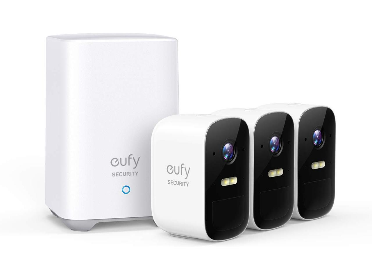 Eufy Security 2C 3-Camera Kit, Wireless Home Security System