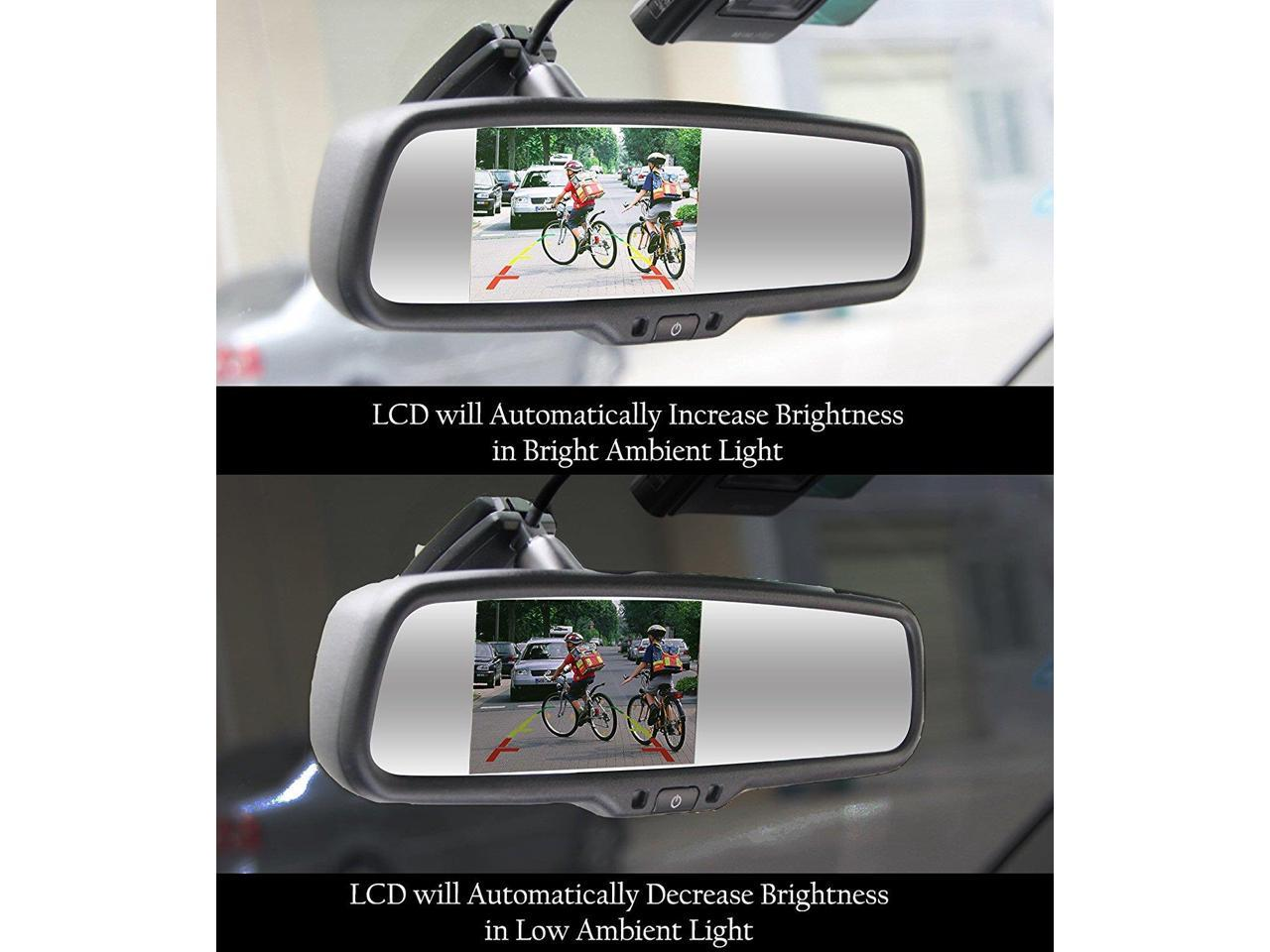 """Master Tailgaters OEM Rear View Mirror with 4.3/"""" Auto Adjusting Brightness LCD"""