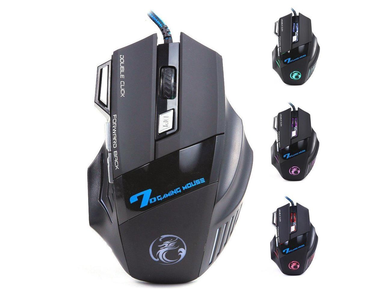 5500DPI LED Optical 7D USB Wired Gaming Professional Game Mouse for PC Laptop Game