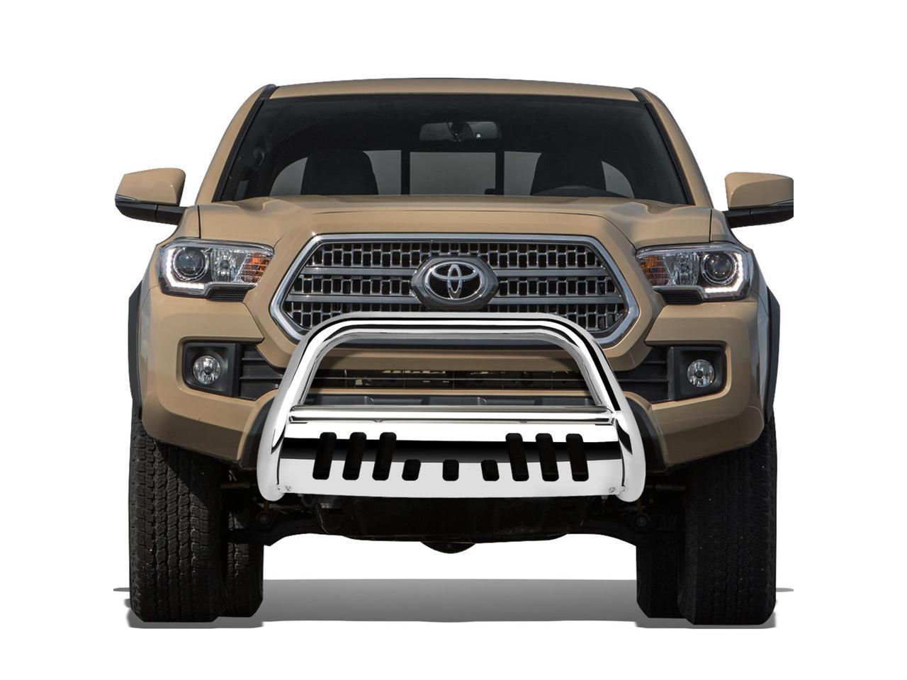 Relocation Kit Skid Plate For Tacoma 3rd Gen 3 Chrome Bumper Push Bull Bar
