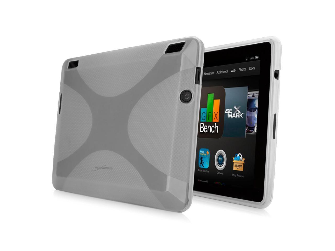 Kindle Fire HDX 40 Case, BoxWave [BodySuit] Premium Textured TPU Rubber Gel  Skin Case for Amazon Kindle Fire HDX 40