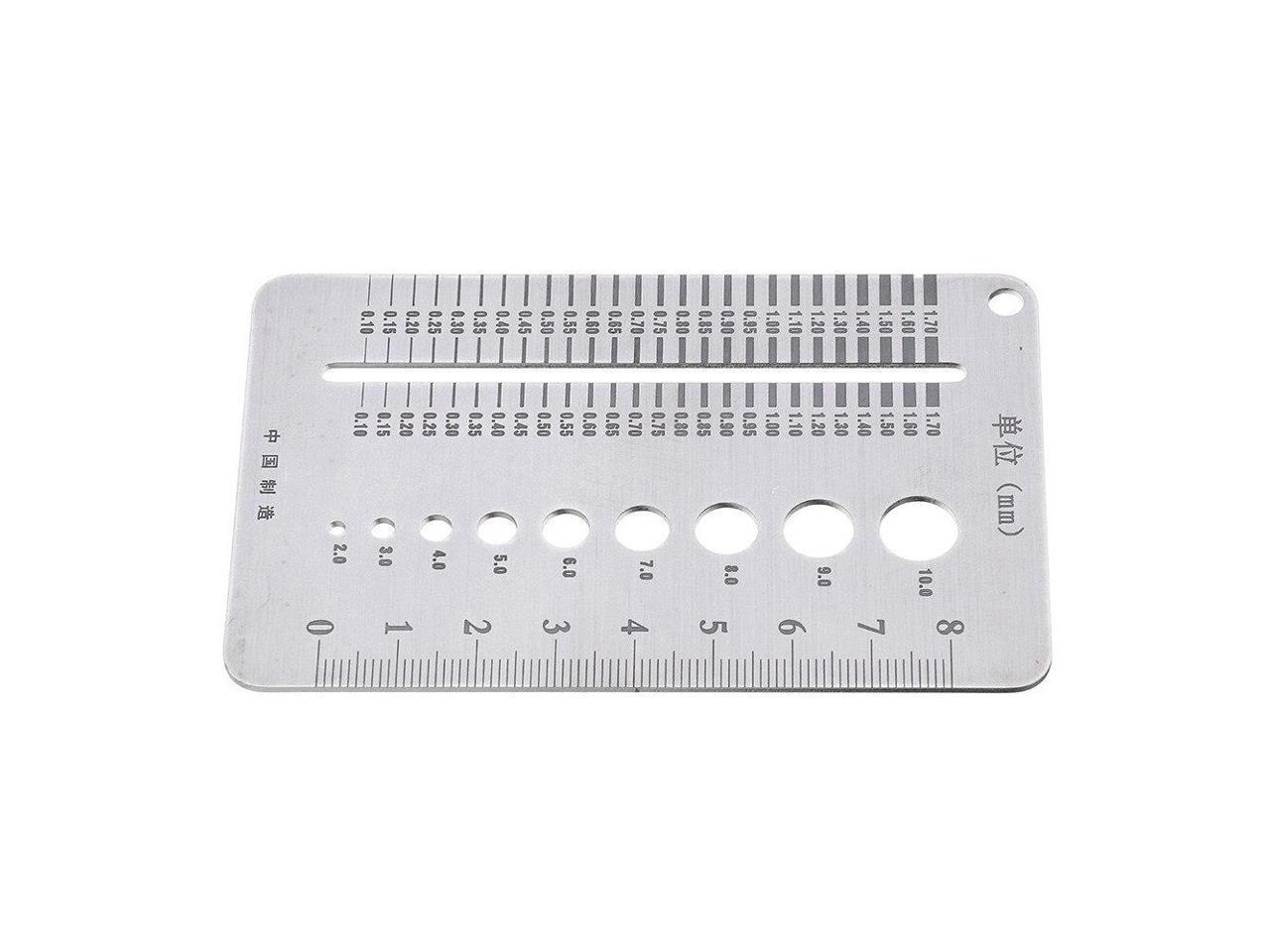 Durable Quickly Measurement for Industrial Bolt Wire Diameter gauge Stainless Steel Bit Gauge