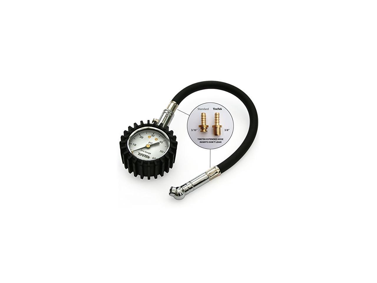 Tire Gauge Robbor 60 PSI Flexi-Pro Heavy Duty Car Motorcycle Tire Pressure Gauge