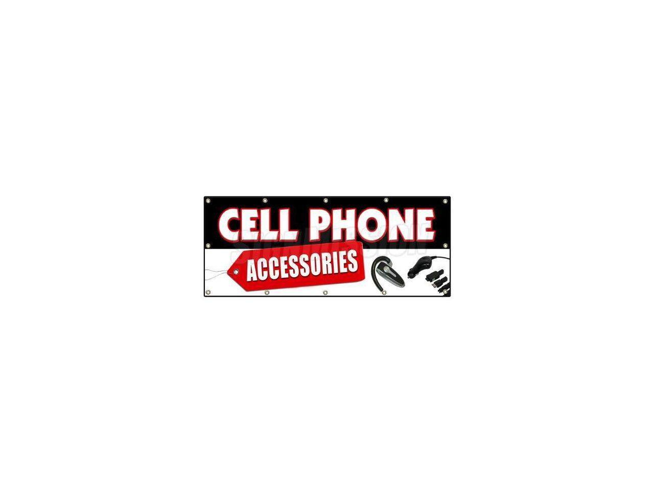 CELL PHONES AND ACCESSORIES BANNER SIGN burner lg samsung no contract