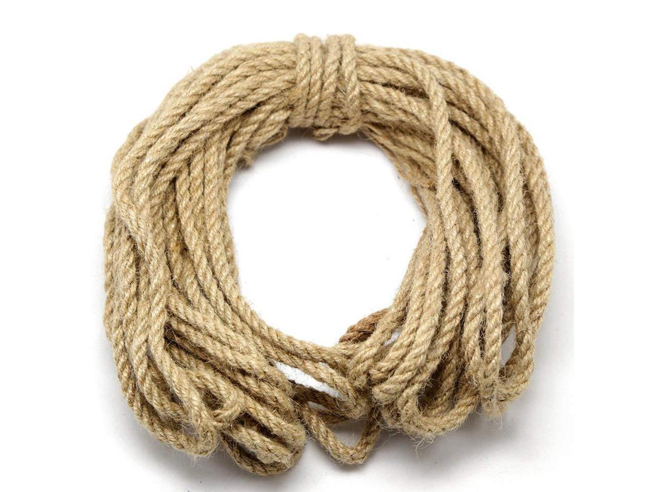 Natural Jute Twine Durable Industrial Packing Materials Heavy Duty Natural Brown Twine Jute Rope//string 328ft//100m for Arts Crafts /& Gardening Applications