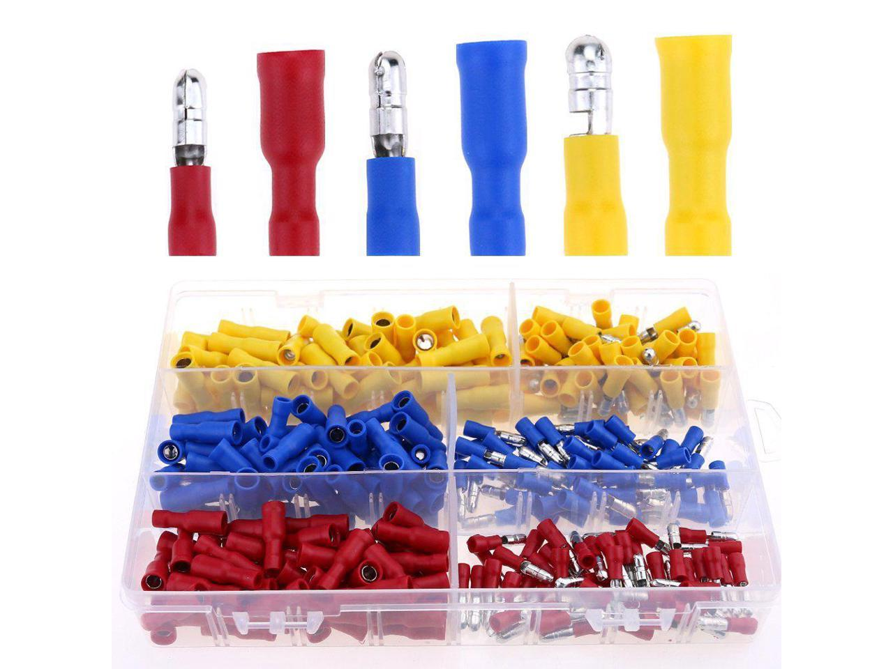 22-16 Gauge Insulated Male//Female Bullet Quick Splice Wire Terminals Crimp Set