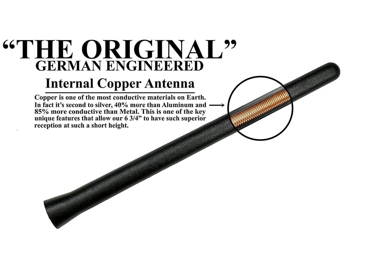 AntennaMastsRus The Original 6 3//4 Inch is Compatible with Chevrolet Corvette Internal Copper Coil - Short Rubber Antenna German Engineered Premium Reception 1997-2004