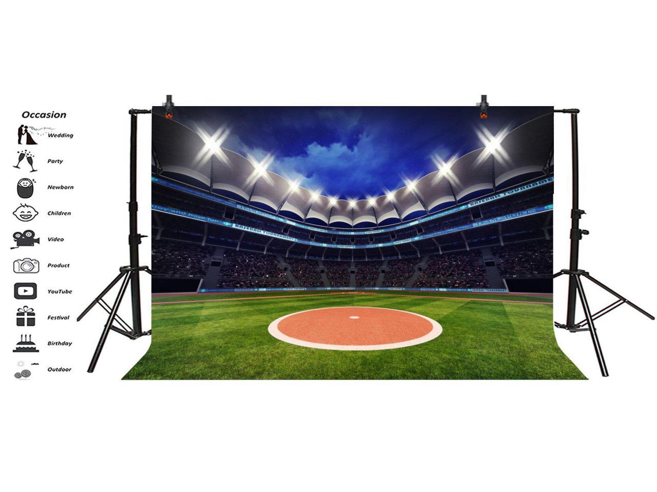Photography Background Baseball Photo Backdrop 10x8ft Baseball Sports Game Stadium Backdrop Pictures Newborn Boy Children Portrait Photo Booth Shooting Family Photographic Studio Props