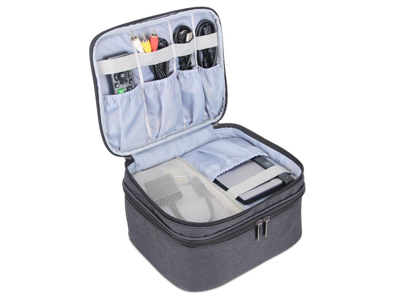 Portable Case for Mini Projector and Accessories Fits Most Major Mini Projectors Black Luxja Carrying Bag for DR.J Mini Projector