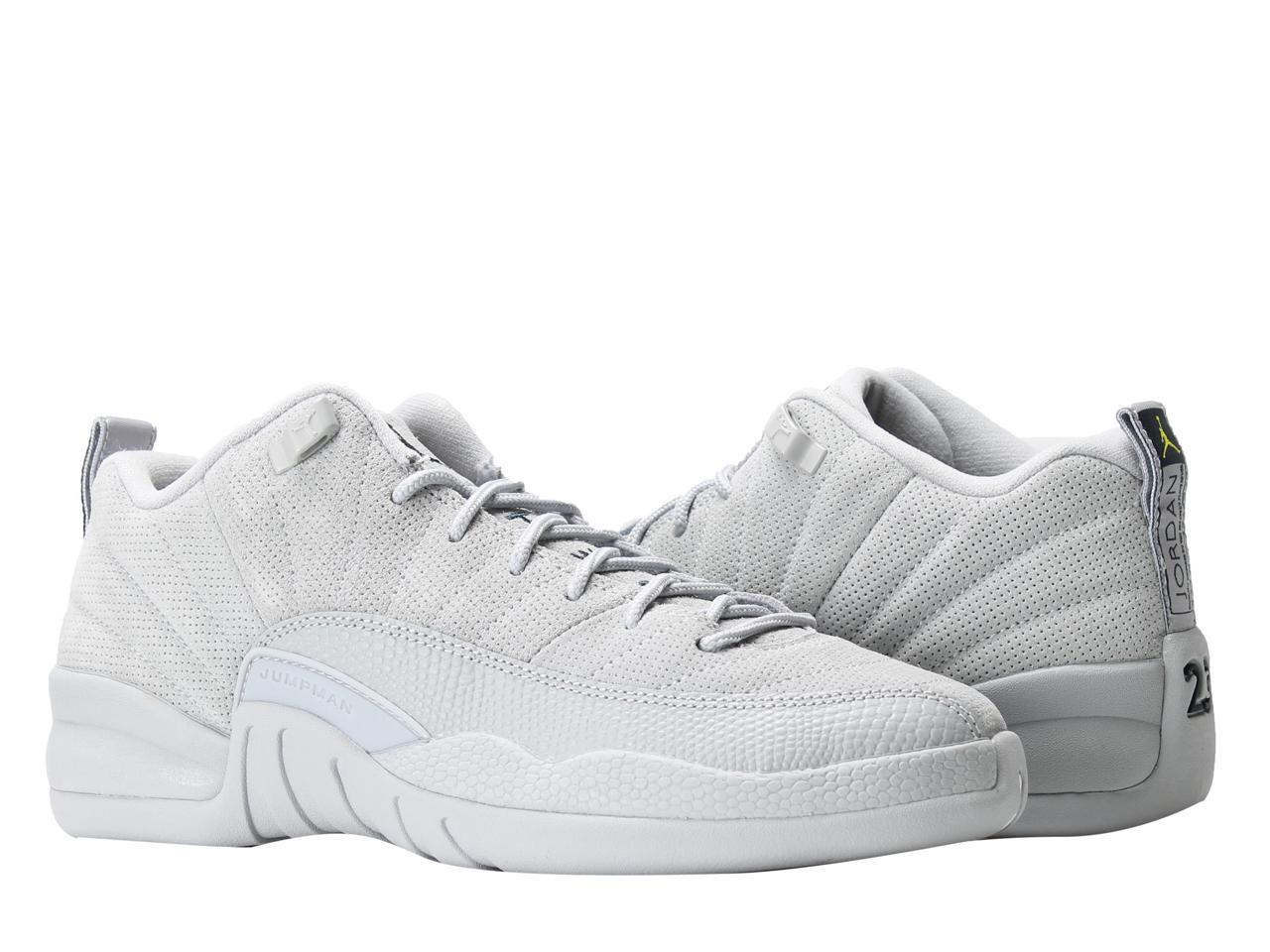 Nike Air Jordan 12 Retro Low BG Wolf Shoes Grey Big Kids Basketball Shoes Wolf 308305-002 Size 4.5 85c862