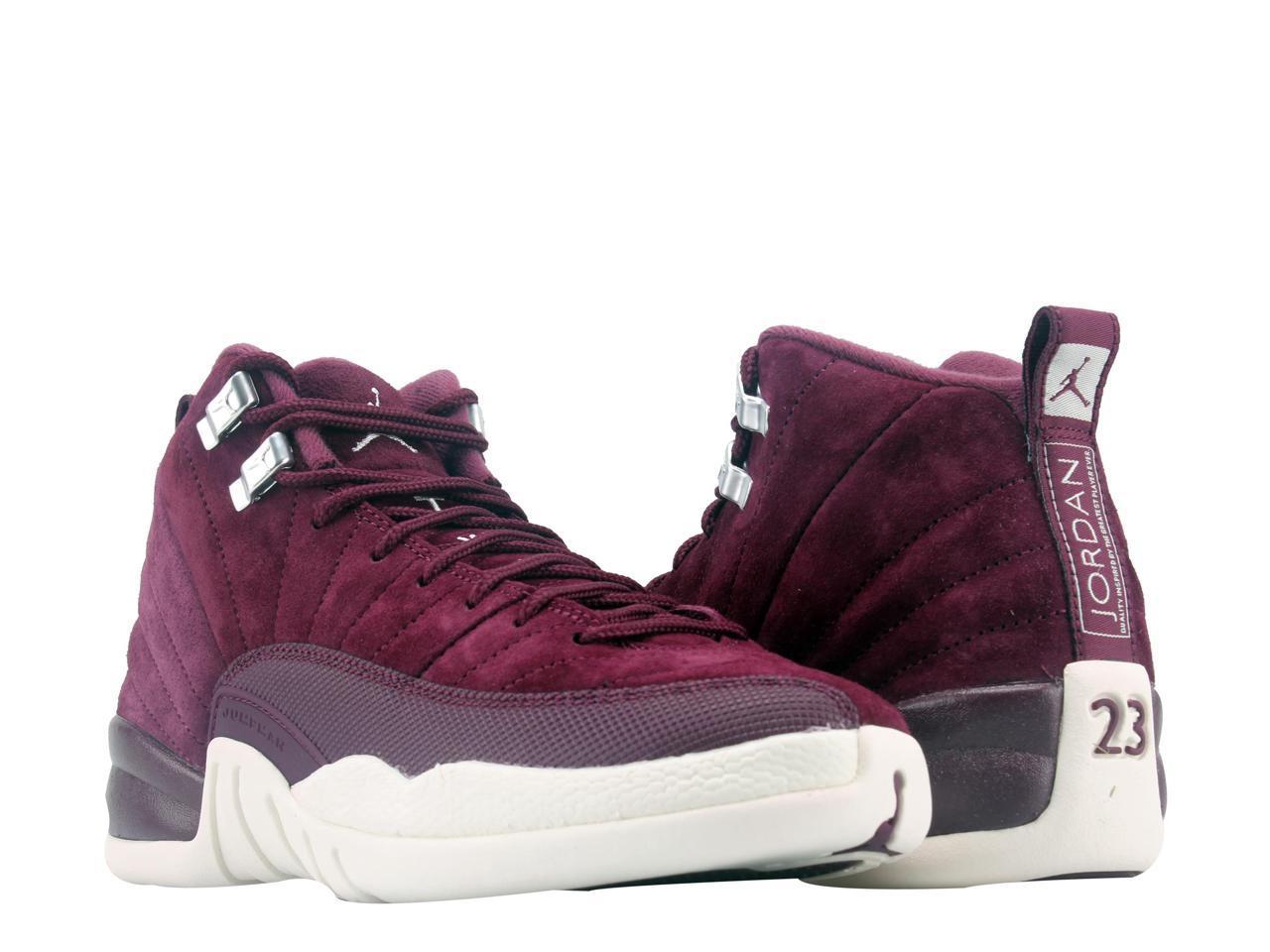 c17f6a97cba8c5 ... wholesale nike bg air jordan 12 retro bg nike bordeaux sail big kids basketball  shoes 130690