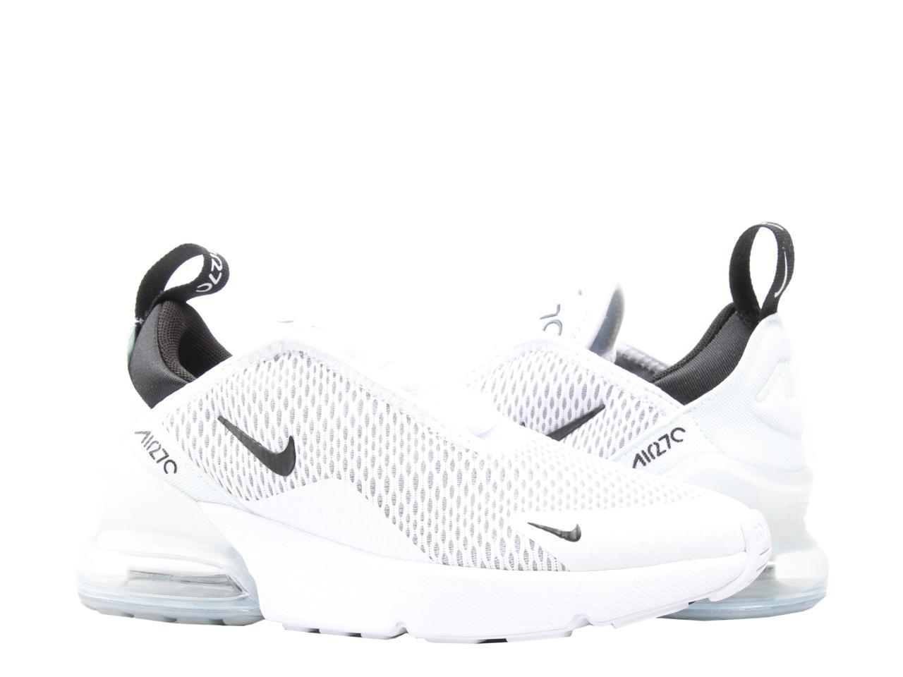 Nike Air Max 270 (PS) White/Black-White Little Kids Running Shoes  AO2372-100 Size 13