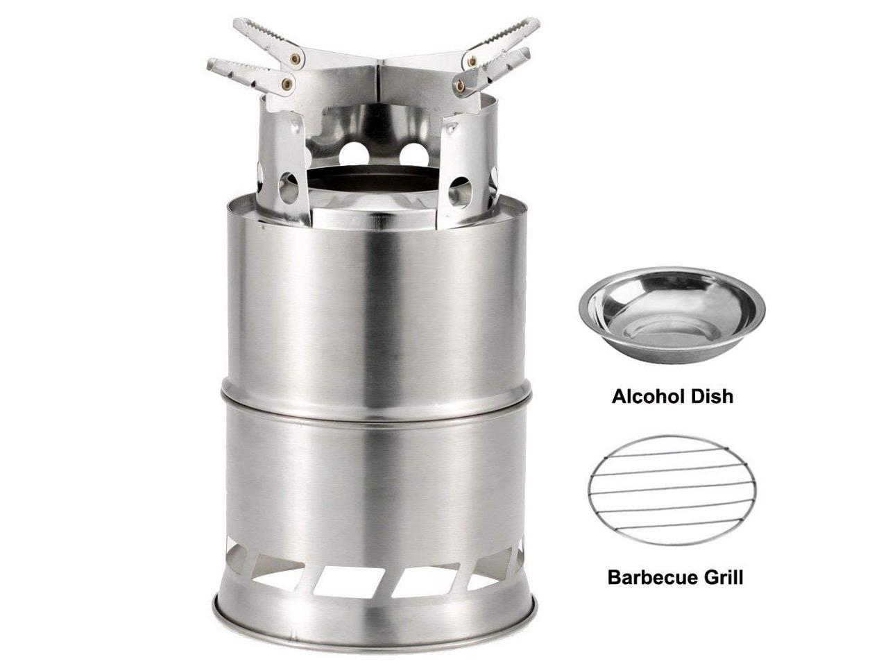 Portable Outdoor Camping Wood Stove Compact Cooking Picnic Folding Wood Stoves