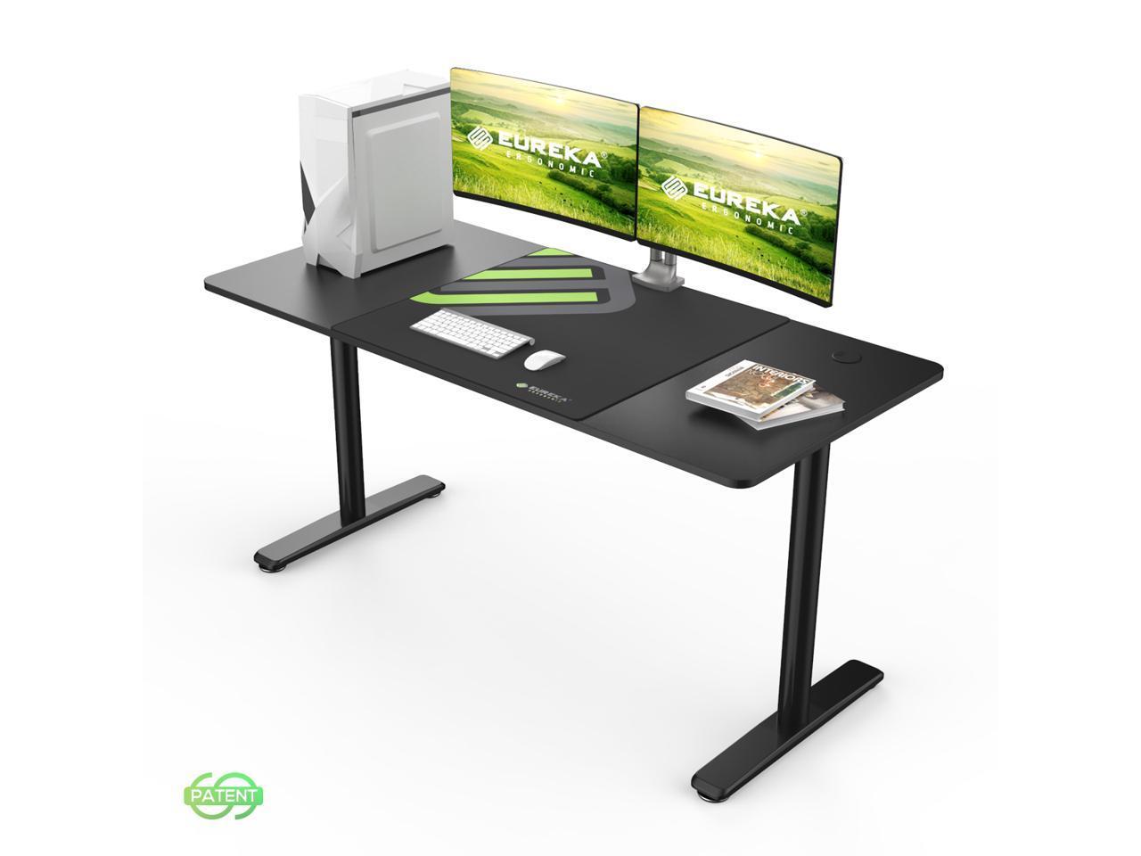 Eureka Ergonomic 60 Inches Large Workstation Simple Computer Desk Home Office Table Black Newegg Com