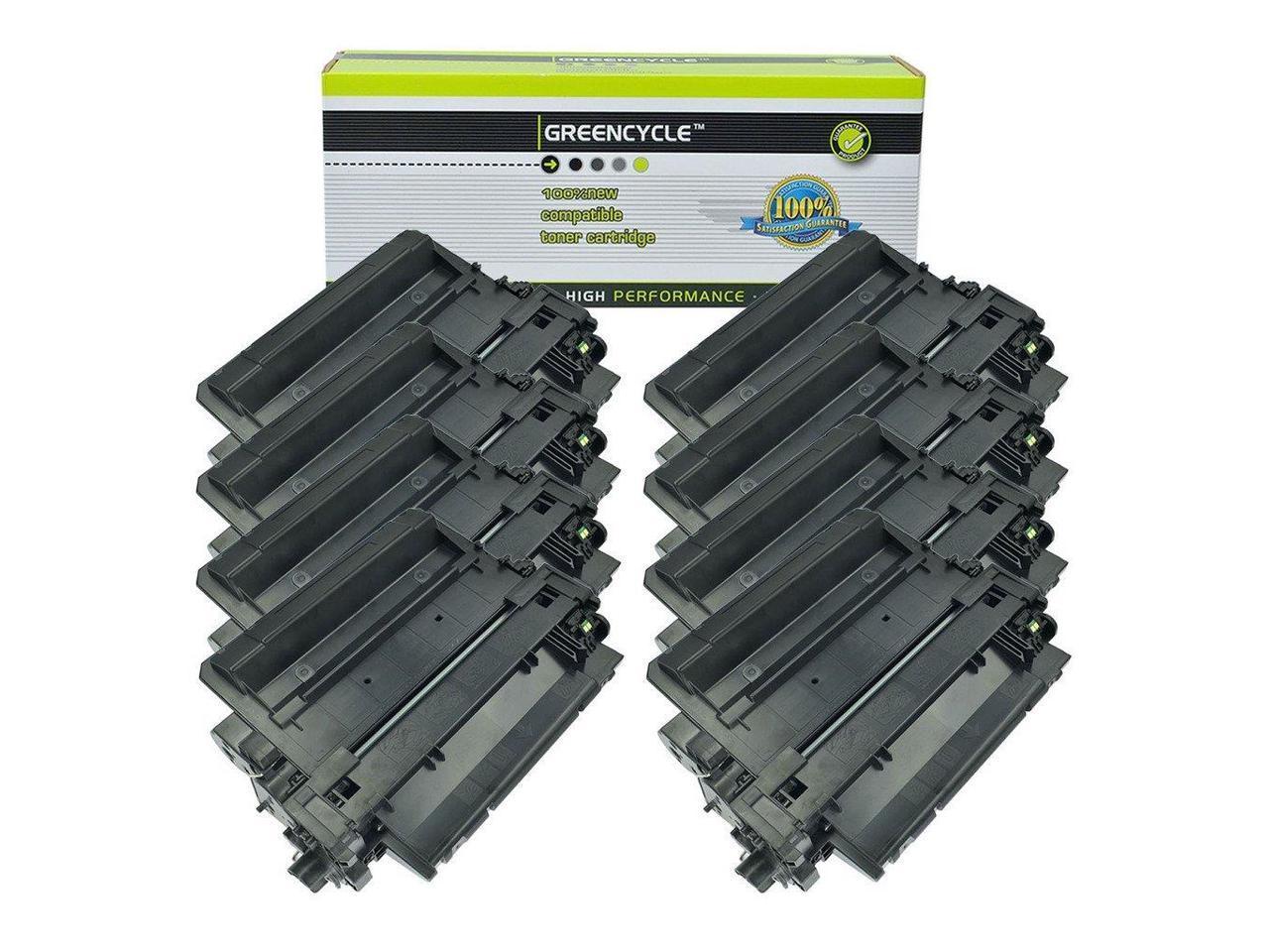 Black, 1-Pack Toner Bank Compatible Toner Cartridge Replacement for HP CE255X 55X CE255A 55A P3010 M521dn P3015d P3015n M525f M525dn