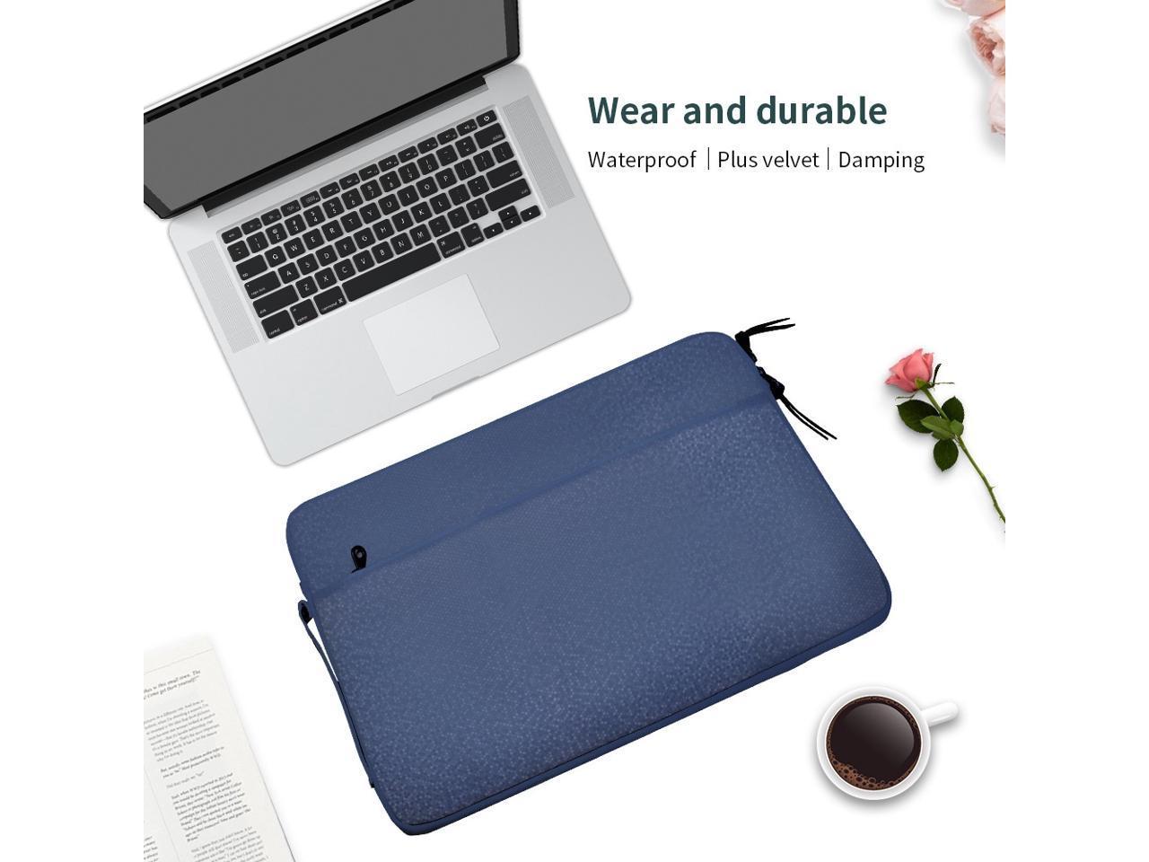 Dark Blue Laptop Handbag Color : Grey KANEED Diamond Pattern Portable Waterproof Sleeve Case Double Zipper Briefcase Laptop Carrying Bag for 13-13.3 inch Laptops