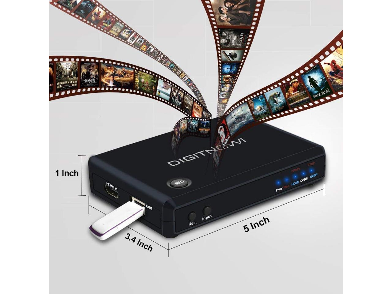 Xbox One//Xbox 360,LiveTV,PVR DVR and More,Support HDMI//YPbPr//CVBS Input and HDMI Output,Full HD 1080p 30fps HD Game Capture//HD Video Capture Device HDMI Video Converter//Recorder for PS4