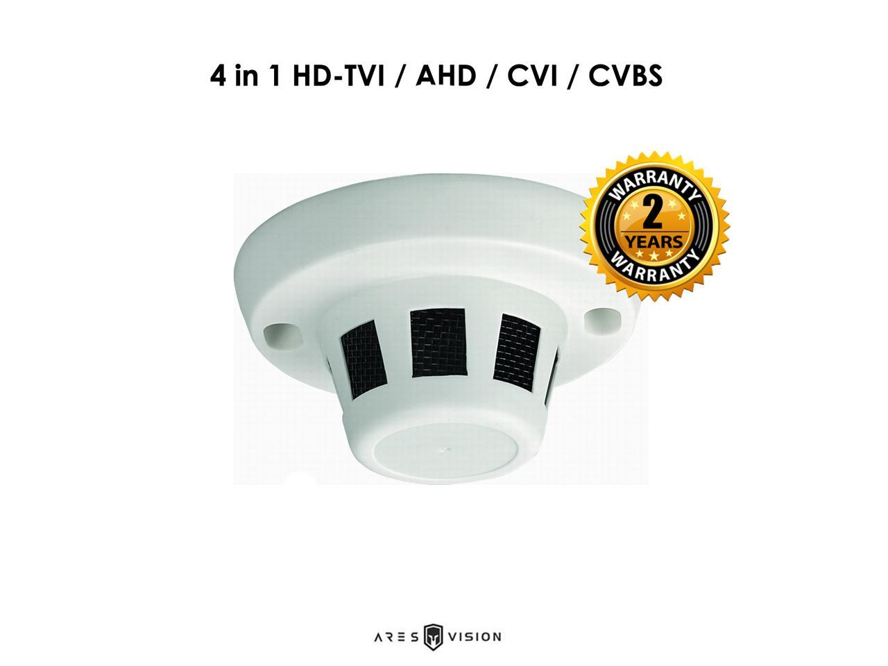 Ares Vision 4 in 1 5MP AHD,TVI,CVI or Analog CCTV Camera w//IR Night Vision /& Vandal Proof Glass