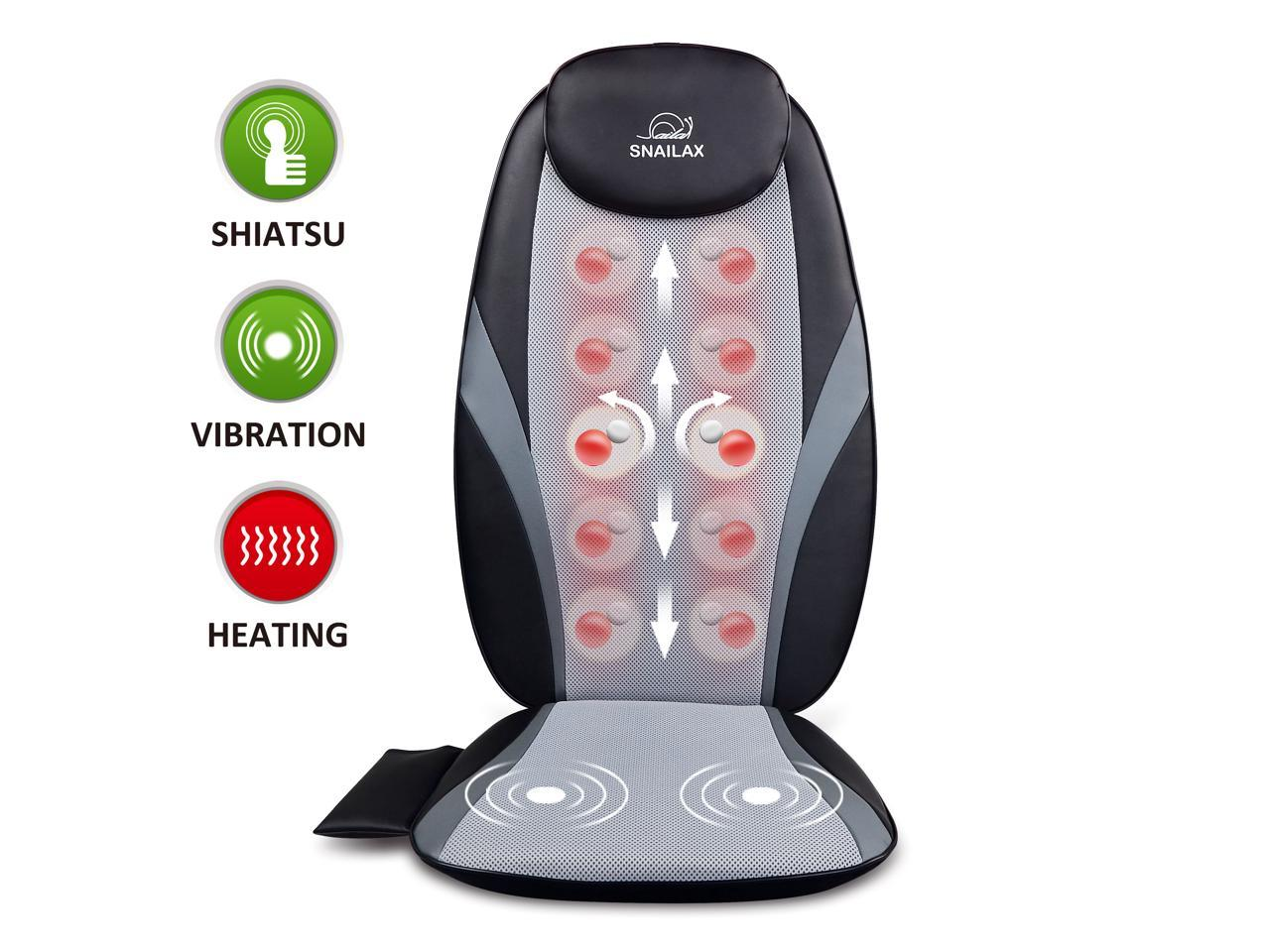 Picture of: Snailax Official Shop Shiatsu Massage Cushion With Heat Massage Chair Pad Kneading Back Massager For Home Office Car Seat Use Sl 256 Newegg Com