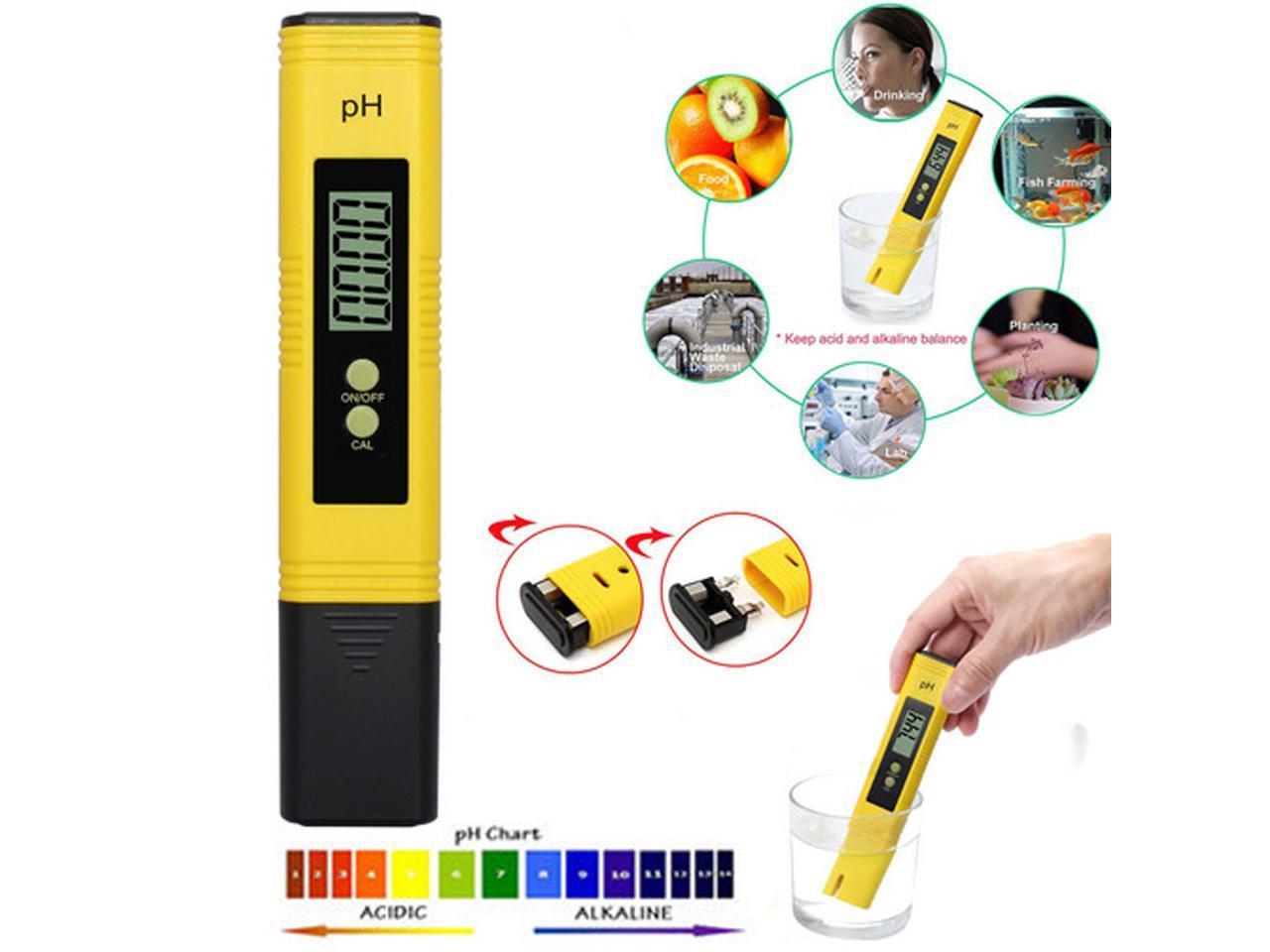 Portable Pro Digital LCD Pen PH Meter Tester Aquarium Pool Water Wine Monitor US