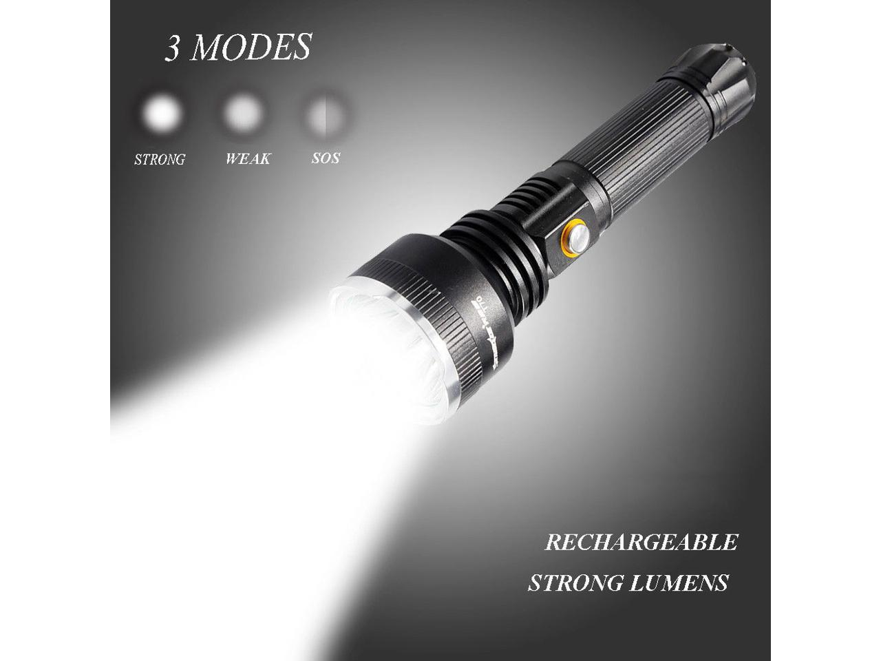 Camping Hunting 30000 Lm Rechargeable T6LED Flashlight Torch Lamp Waterproof