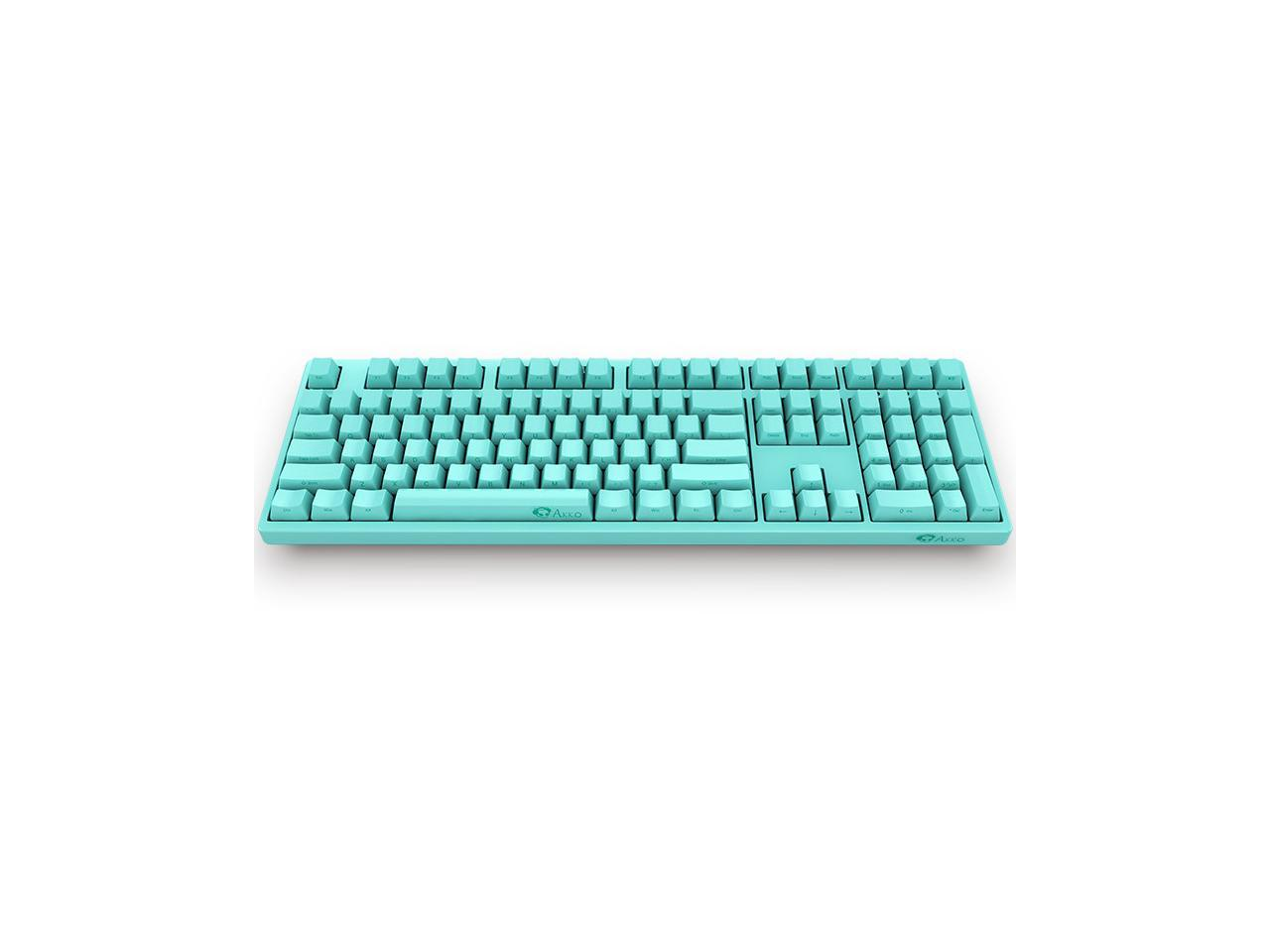 Akko 3108 Full Size Robin Egg Blue Gaming Mechanical Keyboard Cherry Mx Black Switch Double Shot Dye Sub Pbt Keycaps Nkro Detachable Usb Type C Wired Side Printed Carved Letter Newegg Com