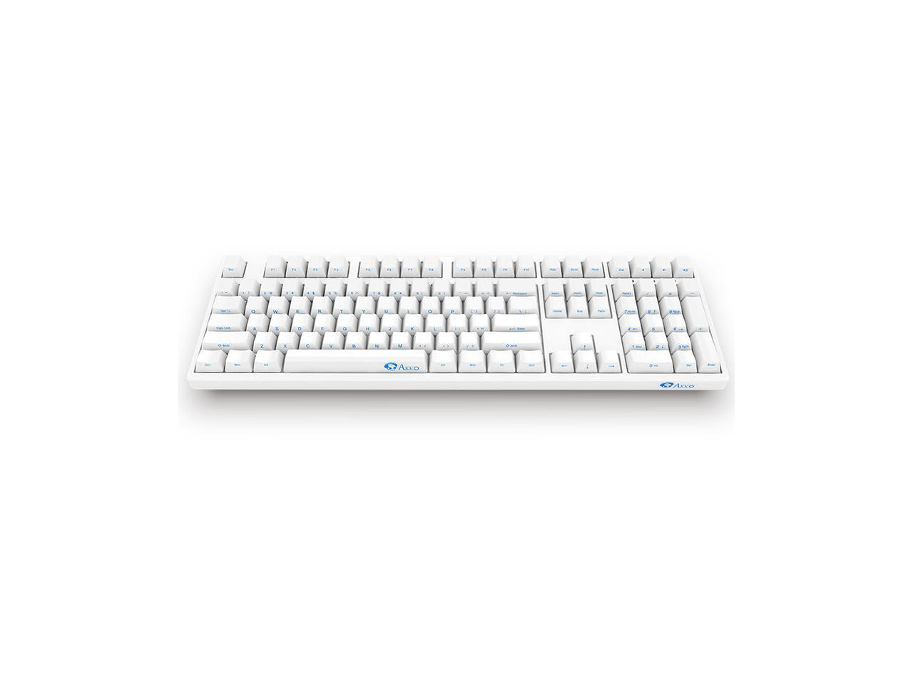 Akko 3108 Full Size Gaming Mechanical Keyboard Cherry Mx Black Switch Double Shot Dye Sub Pbt Keycaps Nkro Detachable Usb Type C Wired Side Printed Carved Letter White Newegg Com