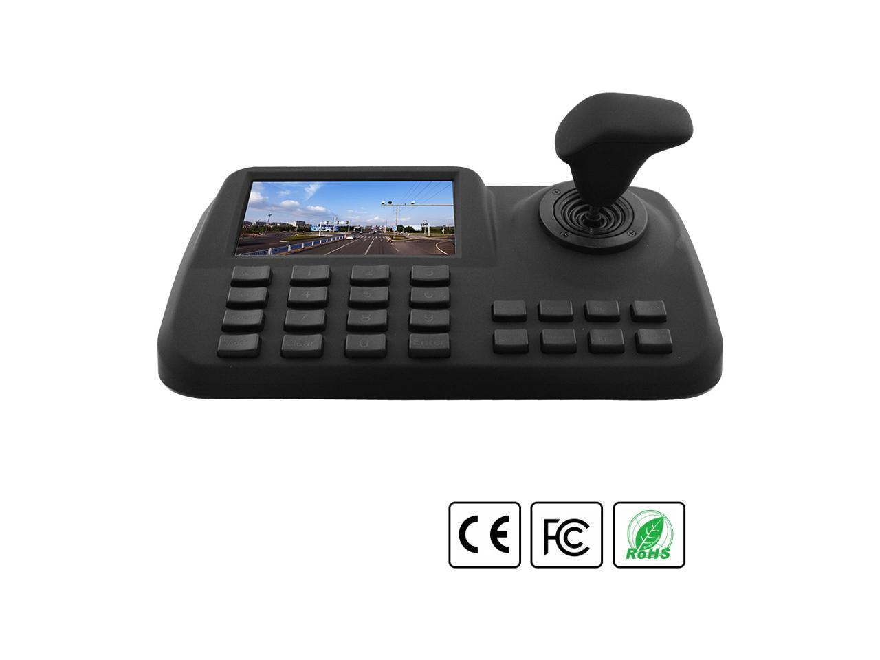 """5/"""" Colorful LED Support ONVIF 2.4 PTZ Network Keyboard Controller For IP Camera"""