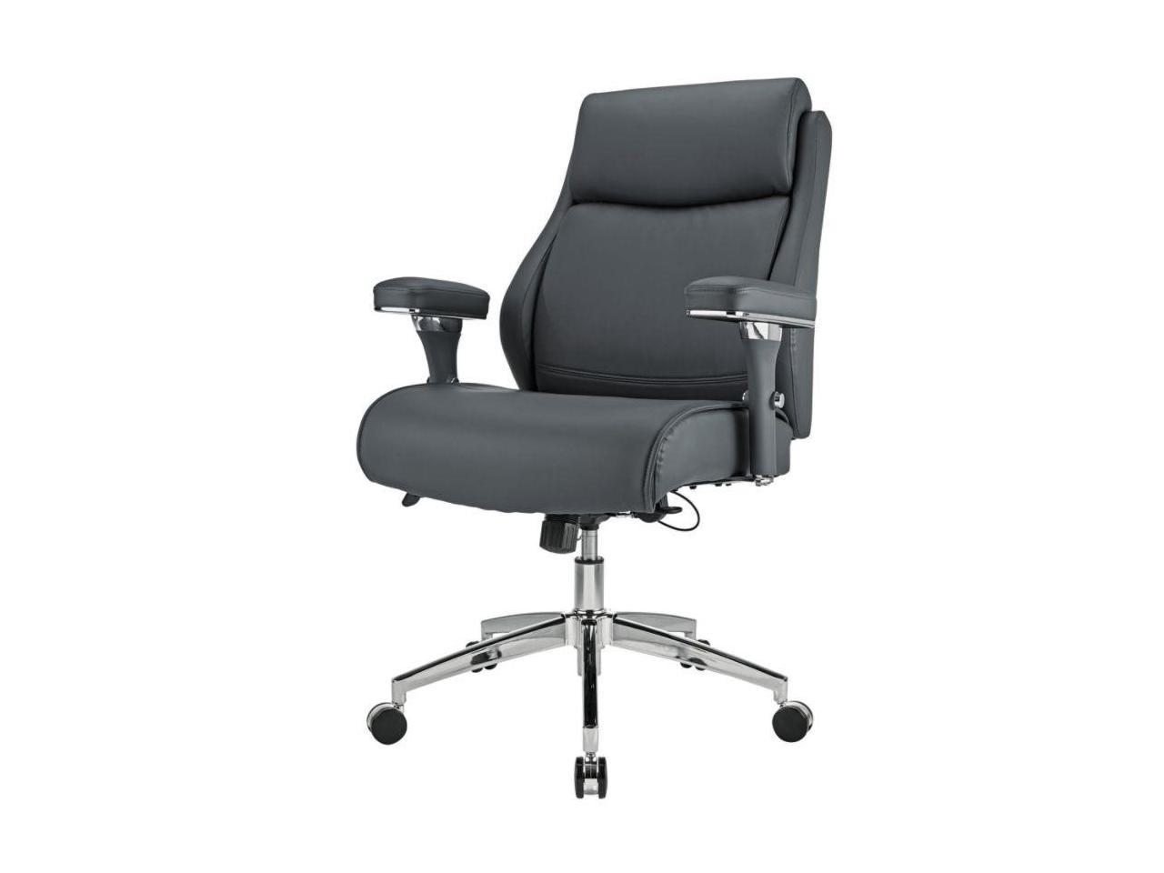 Realspace® Modern Comfort Keera Bonded Leather Managerial Mid-Back