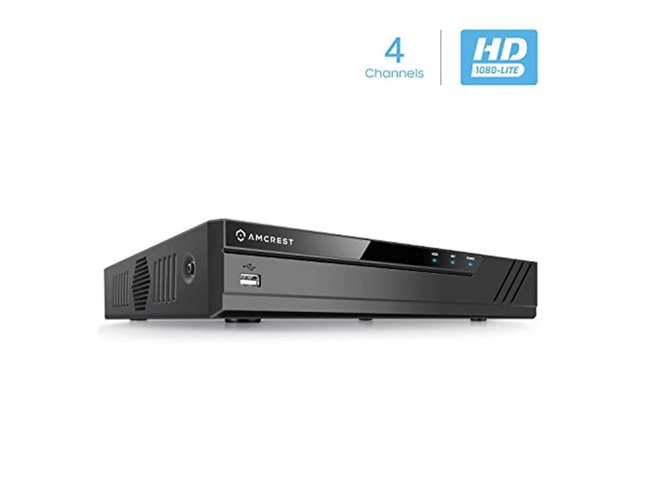 AMDVTENL4-H5 Remote Smartphone Access HDD /& Cameras NOT Included Amcrest 1080n ProHD 4 Channel DVR Security Camera System Recorder Security DVR for Analog Security Cameras /& Amcrest IP Cameras