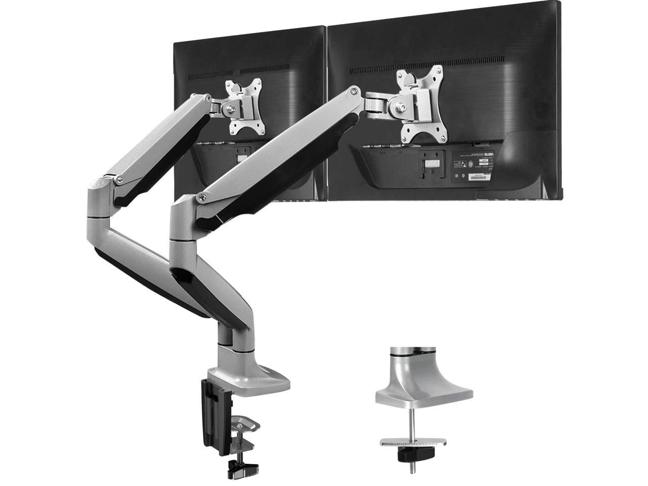 Free-Standing Desk Stand Riser for 13-32 inch Screen with Swivel Height Adjustable Rotation Hold up to 17.6lbs HUANUO Swivel Universal Single Monitor Stand