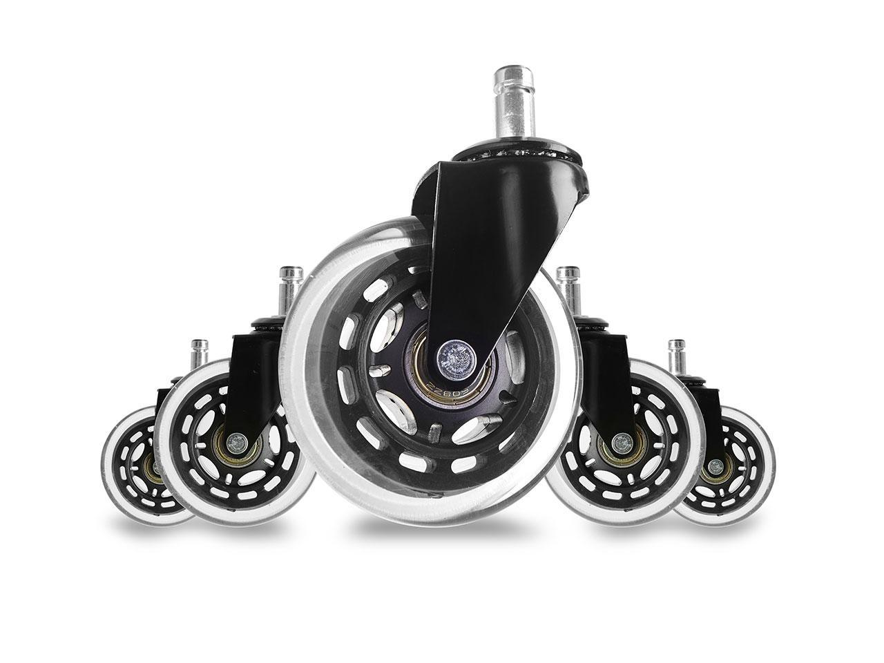 Heavy Duty /& Floor Safe Office Chair Wheels fit Gaming Computer Desk Chairs 5 Pack Office Chair Caster Wheels Replacement Rubber Caster