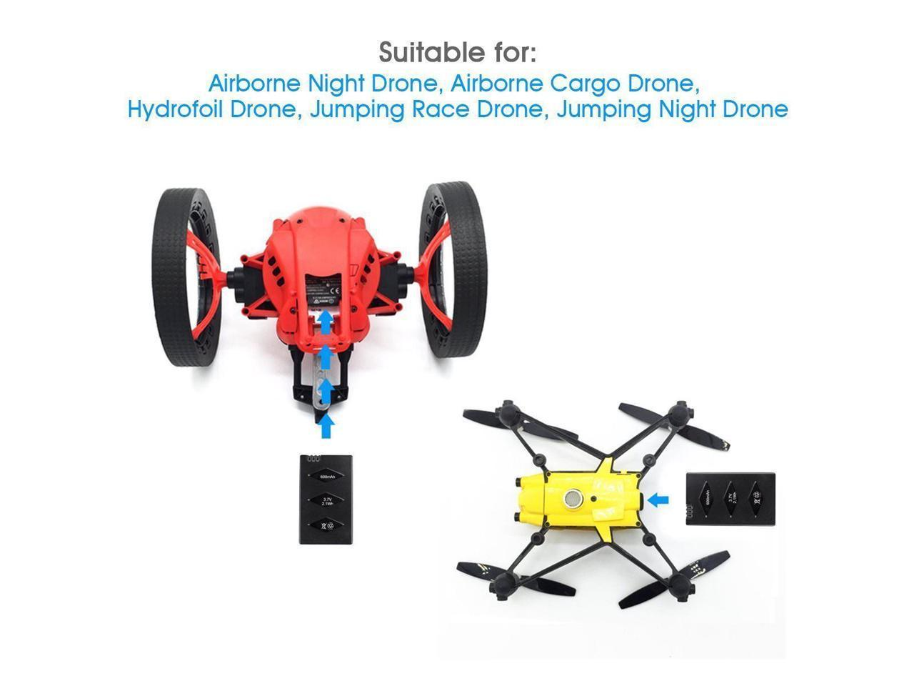 Rucan 3 Battery//Set for Parrot MiniDrone Jumping Sumo Swing Mambo Rolling Spider