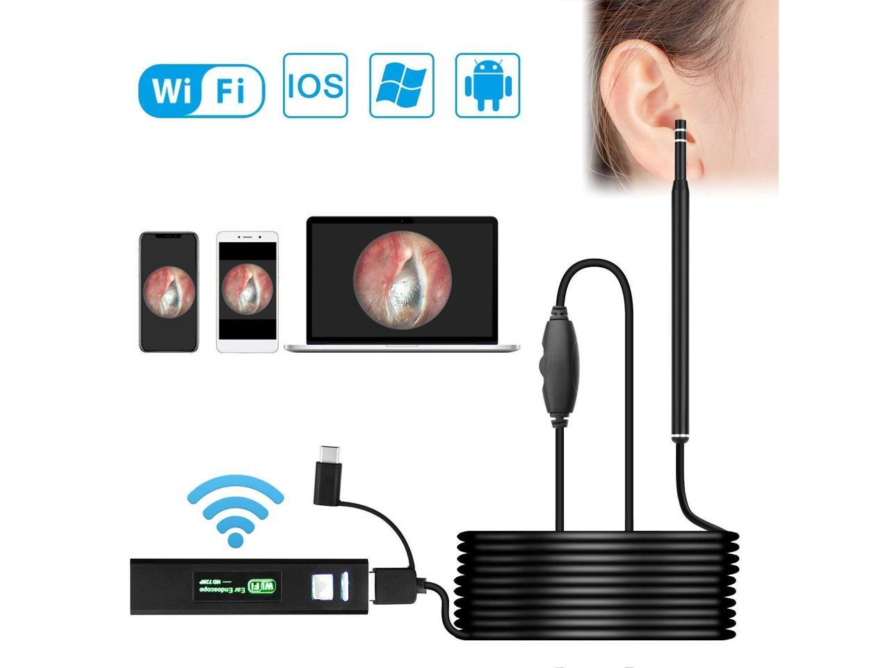 PRO HD Ear Scoop Endoscope Set Ear Wax Cleaner Otoscope Camera 1.3MP Cam Kit