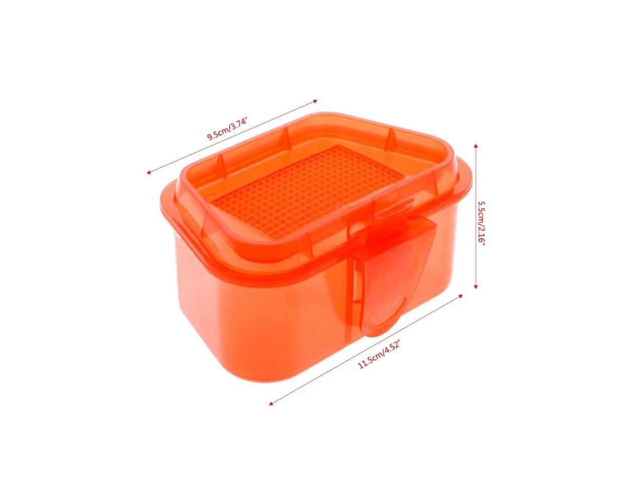 Breathable Fishing Lure Box Live Earthworm Red Worm Lure Bait Storage Case