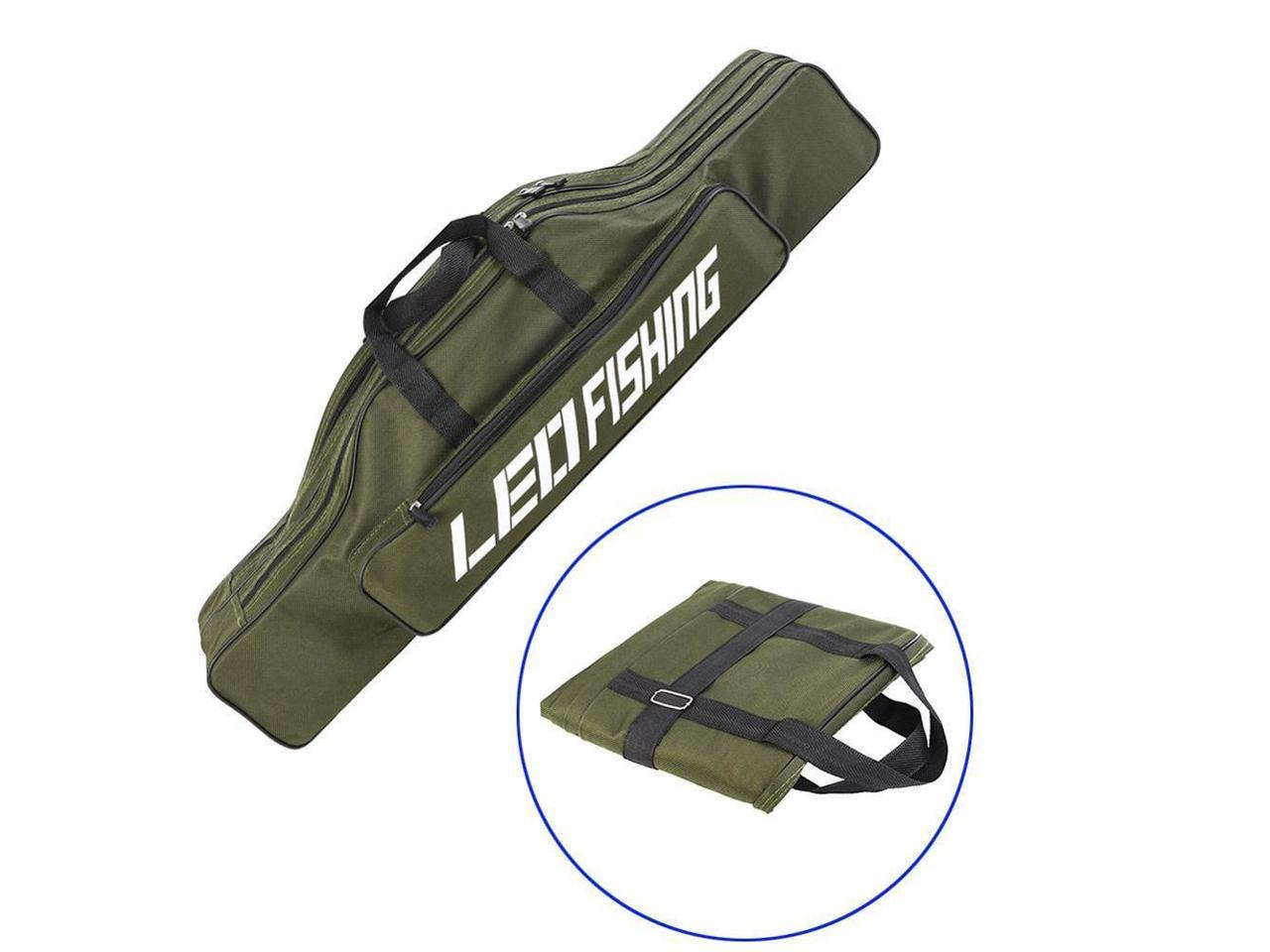 Portable Fishing Rod Holder Straight Handle Leg Bag Free Carrier Tackle Tools