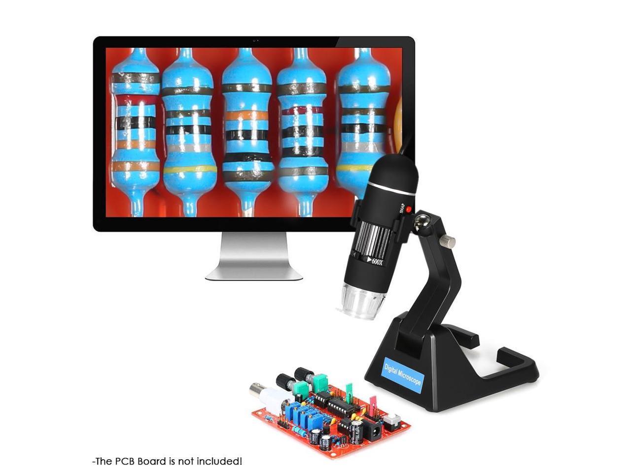 Professional 25X-600X High Presision Digital USB Microscope 8LED ...