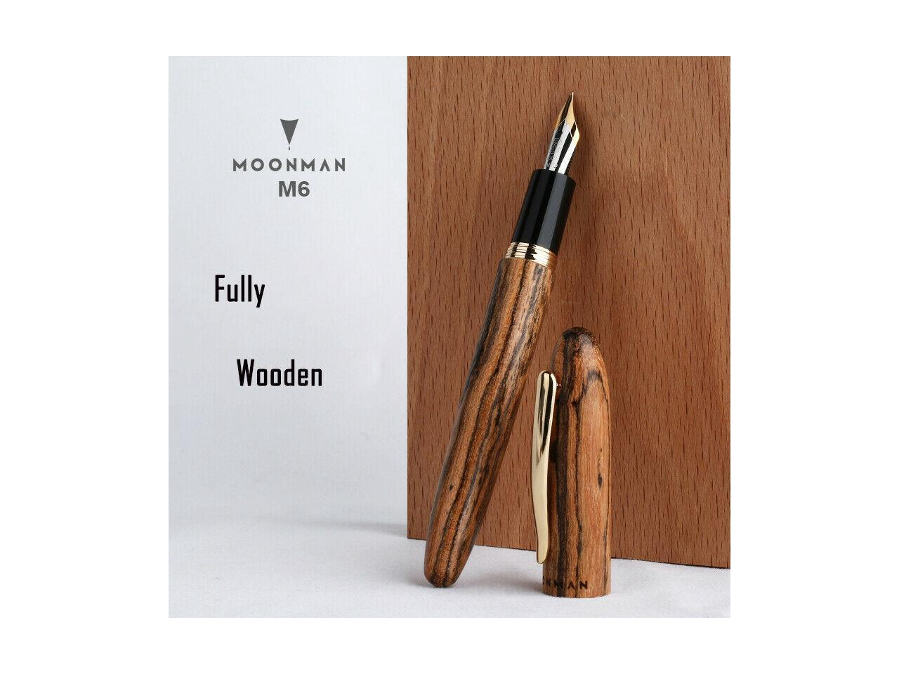 Includes a gift box. Handcrafted Iridium Gold Fountain Pen with Wooden Body