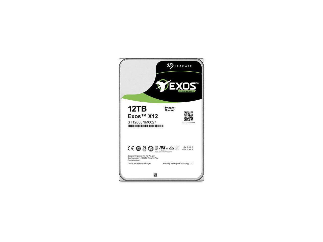 Seagate Exos HDD ST12000NM0027 12TB 3.5 7200RPM 256MB SAS