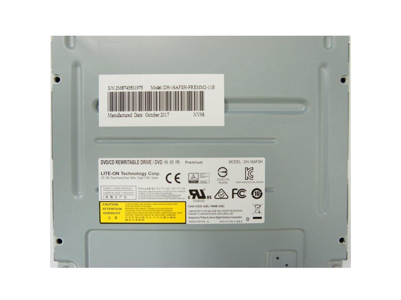 Lite-On DH-16A3L 8X DVD/±RW DL SATA Drive w//LightScribe Black