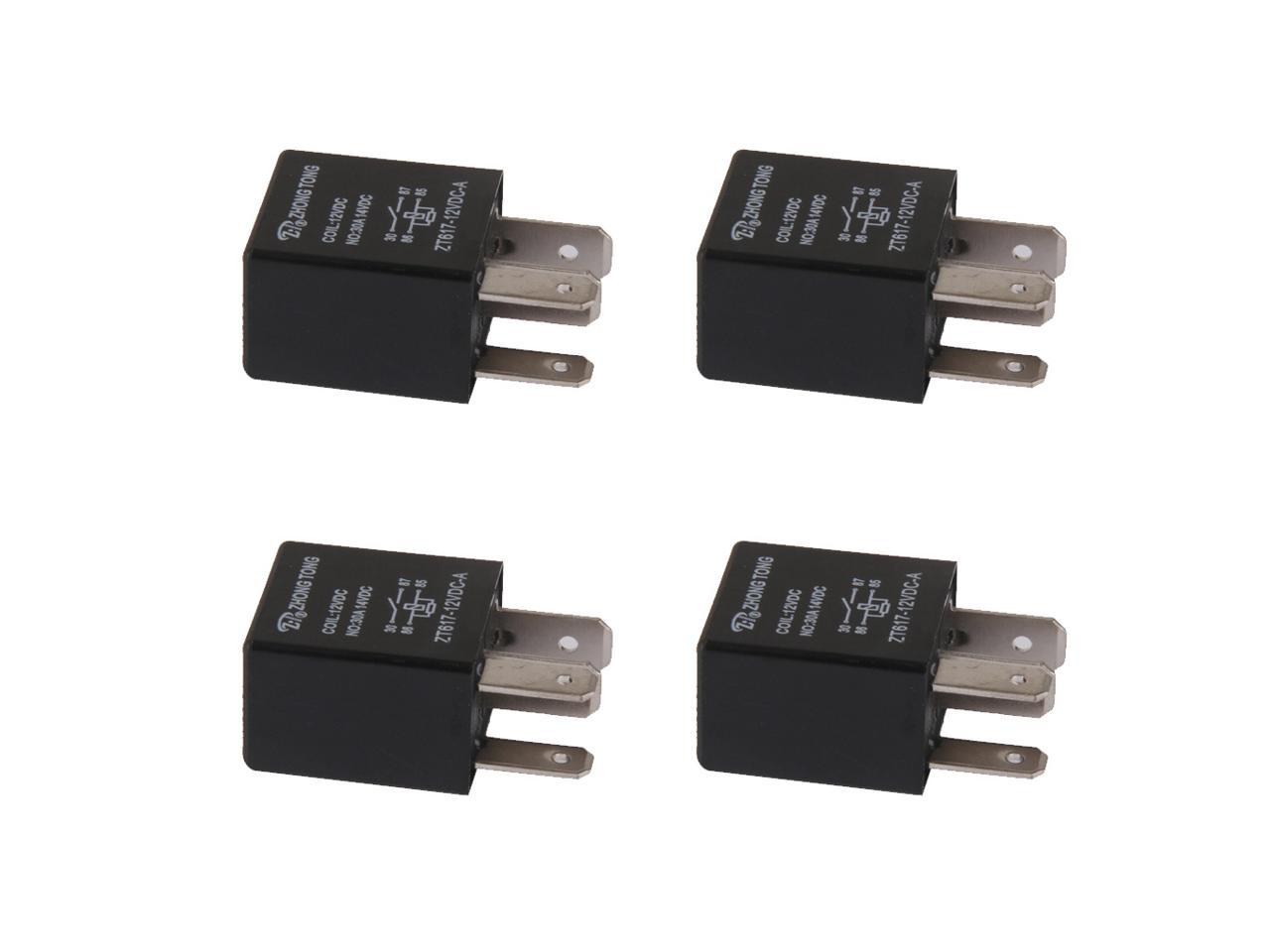 4 Pieces Car Automotive 12v 30 Amp 4 Pin Spst Relay For