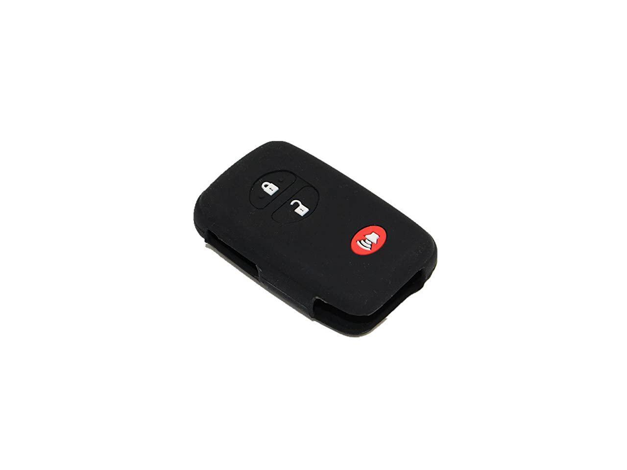 New 3 buttons Black Silicone Rubber Remote Key Cover Holder Key Fob Skin Cover for 4runner Venza Avalon Land Cruiser Camry