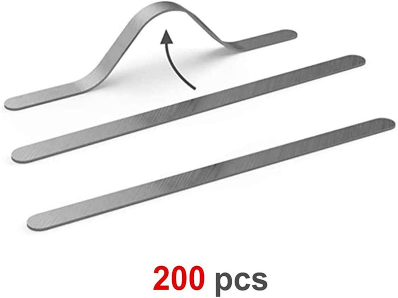 BESPORTBLE 10pcs Plastic Strips Nose Wire Nose Bridge Bracket Nose Clips for Outdoor Riding Bandana Face Cover Black