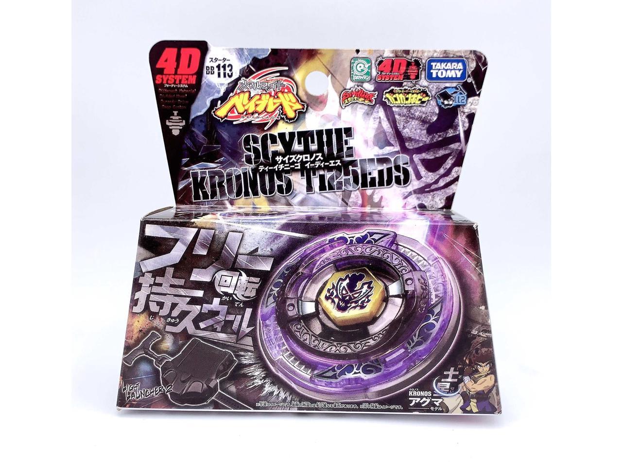 Takara Tomy Japanese Beyblade BB113 Metal Fusion Starter Set Scythe Kronos