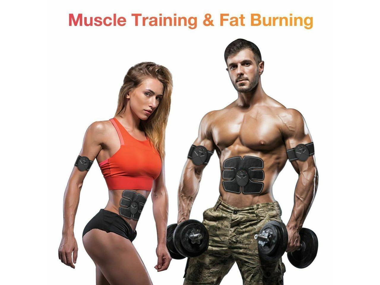 Electric Muscle Toner Machine Wireless Toning Belt Simulation ABS Fat Burner Kit