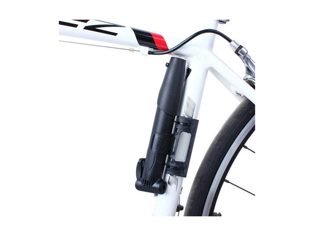 X AUTOHAUX Mini Bike Bicycle Tire Floor Pump Portable French American Type Valve Inflator Blue for Road Bike Mountain Bike